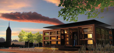City College students hope to win the 2011 Solar Decathlon with their qualifying design for a solar roofpod, aspects of which are shown here and below.