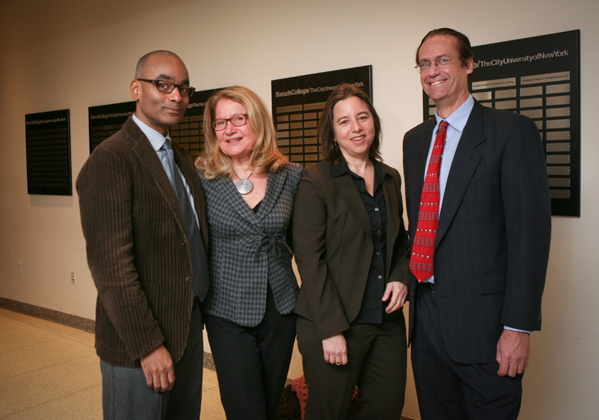 Distinguished Professors Reid-Pharr, Buck-Morss, Schulman and Whalen