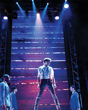 "Oliver Houser in the lead role of the musical ""Spring Awakening"" at a theater in Virginia."