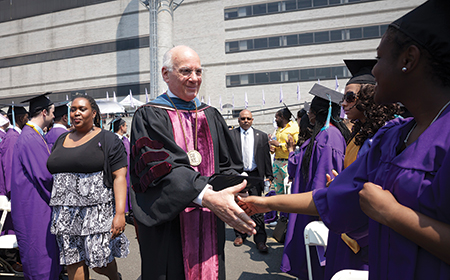 Chancellor Goldstein, who attended the 1963 King commencement address as a graduating senior, returned to speak at the City College 2013 Commencement.