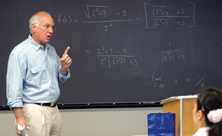 Chancellor Goldstein teaches a calculus course at Hunter College