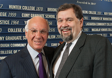 Chancellor Goldstein with Interim Chancellor Kelly at the CUNY Welcome Center