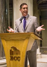 State Senator Jeffrey D. Klein announces Start Up New York at BCC.