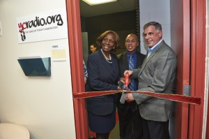Ribbon cutting for the York student radio station