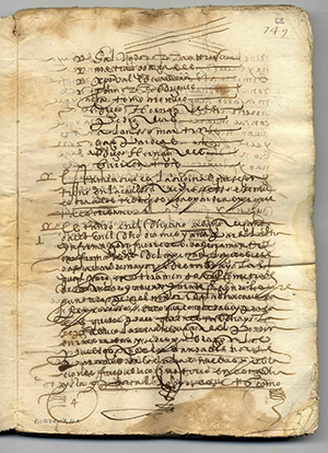 Judicial document from La Española with Juan Rodriguez's name.