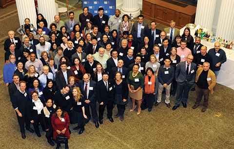 Faculty members honored at The City University of New York's Salute to Scholars annual reception in December