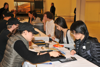 Participants in the New York City Student Ancestry Project providing DNA samples for analysis by National Geographic's Genographic Project. © AMNH / D. Finnin.