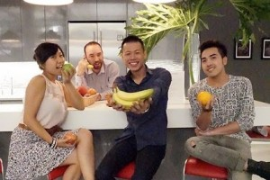 Infor Interns: l to r, Mandy Mei, Montgomery Hatch, Christopher Chan, Bao Nghiem.