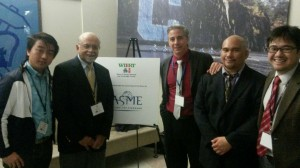 l to r: Ye Htet Lynn; Mr. Amit Chattopadhyay, Chair, Scholarship Committee, ASME – MER Division; CCNY Professor Marco J. Castaldi, ASME-MER Division Chair; Christopher Amoroso; Professor Masato R. Nakamura.