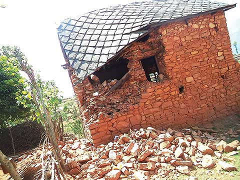 "When the worst happens and a natural disaster strikes — at home or abroad — CUNY has a  protocol that enables it to help in the most effective, ""coordinated"" way.  Village destruction in Nepal"