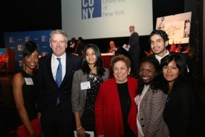 Chancellor Milliken and Ms. Shalala with CUNY students