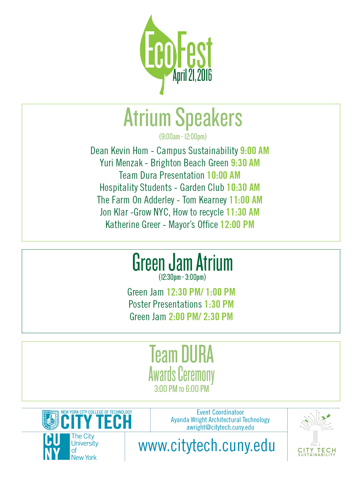 City Tech to Host Annual EcoFest and Earth Day Celebration – The ...