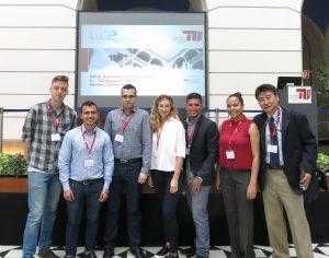 l to r: four symposium participants, Sanko, Garcia, Zevallos, Hom.