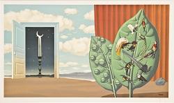 René Magritte, Une porte s'ouvre sur la nuit (A Door Opens onto the Velvety Night), 1968