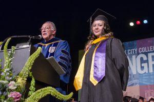 President Hotzler and Maritza Lopez