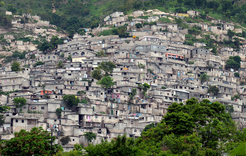 Slum housing in Port au Prince
