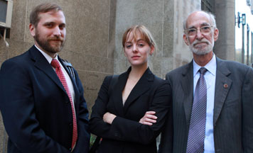 (l-r): David Rankin, Rebecca Heinegg ('07), and Martin Stolar. Photo credit: Jefferson Siegel