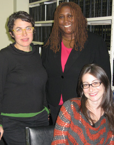 From left: Tanya Kessler ('09), Orier Okumakpeyi ('06), and Rachel Spector ('07)