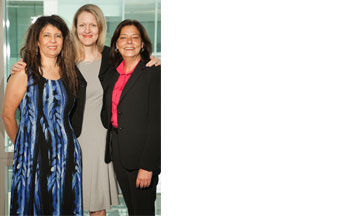 From left: Associate Dean Penny Andrews, Dean Michelle J. Anderson, and Associate Dean Mary Lu Bilek.