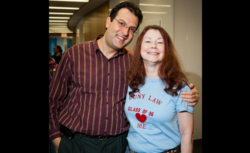 Demetri Iliou, IT, and Mary Nevins, Affirmative Action officer.