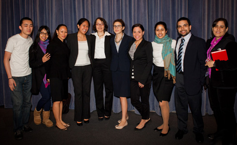 Judge Jenny Rivera with members of LALSA