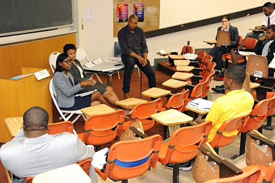 Somalia Samuel ('14) and Ada George ('14) moderating a workshop