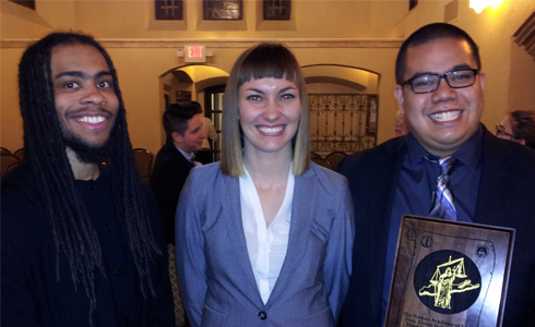 Zamir Ben-Dan ('15), Jessica Prince ('15), and Philippo Salvio ('15)