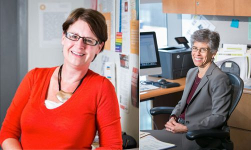 Sharon Stapel ('98) and Prof. Julie Goldscheid