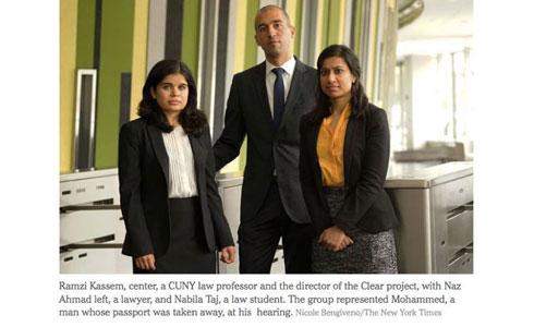 Naz Ahmad, Professor Ramzi Kassem, Nabila Tab ('15)