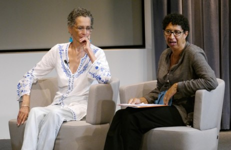 Denise Oliver-Velez and Dean Cheryl Howard answer questions from the audience.
