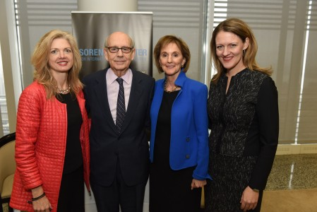 Camille Massey ('95), Justice Breyer, Gillian Anderson and Michelle J. Anderson