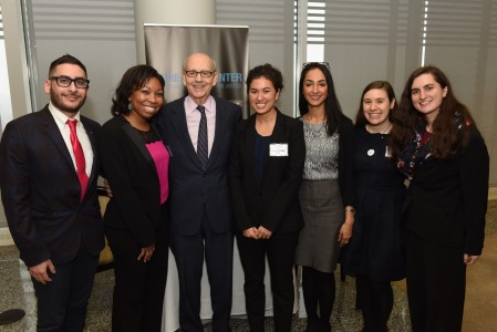 Justice Breyer with Sorensen Center fellows and research assistant