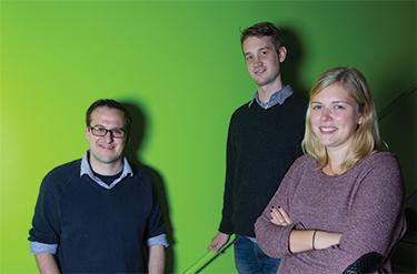 (l-r) Jeffrey Strutynski ('16), Seth York ('16), and Alexandra Roche ('16)