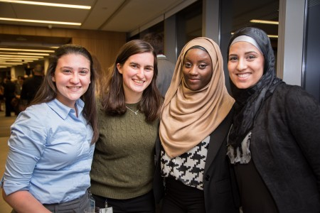 CUNY Law students at the opening of the Sorensen Center for International Peace and Justice in October 2014