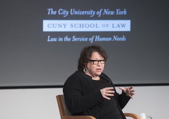 "There is a difference between public service and public interest ""because public service can serve roles that are not always in the public interest,"" Justice Sotomayor told the audience."