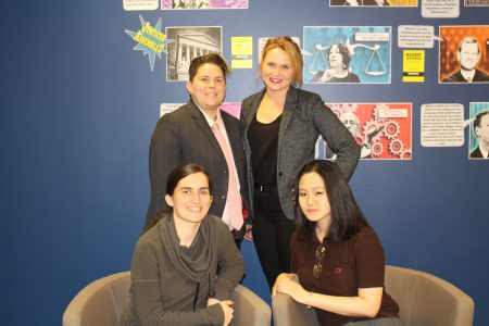 HRGJ Clinic Team: Steph Freeman and Katy Joseph (Top Row) with Megan Lynch and Natalie Gao (Bottom Row)