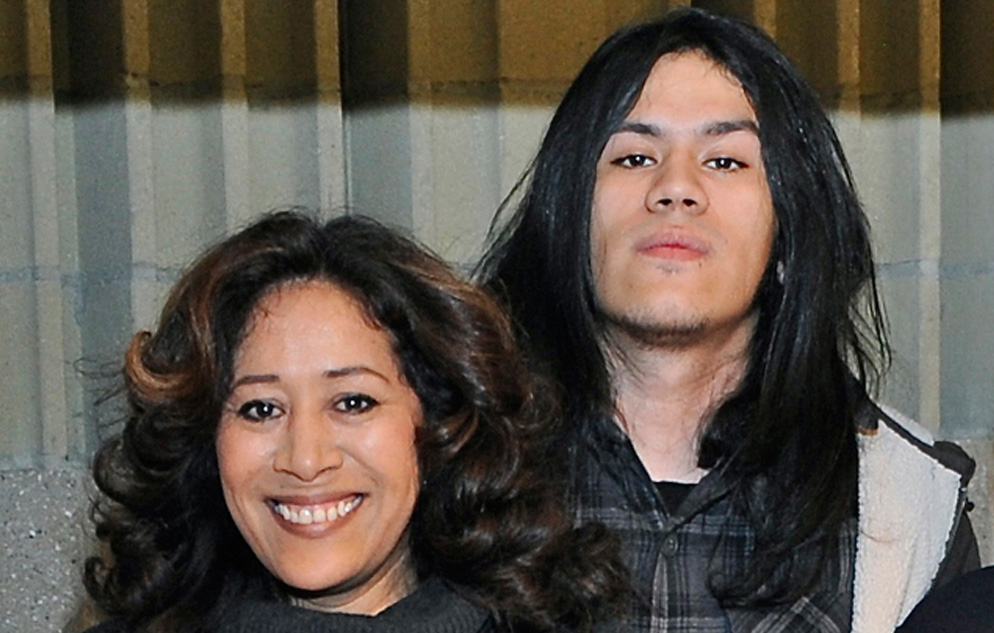 Diana Zambrano and her son