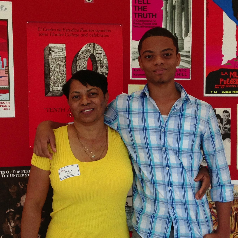 Althea Angus and son
