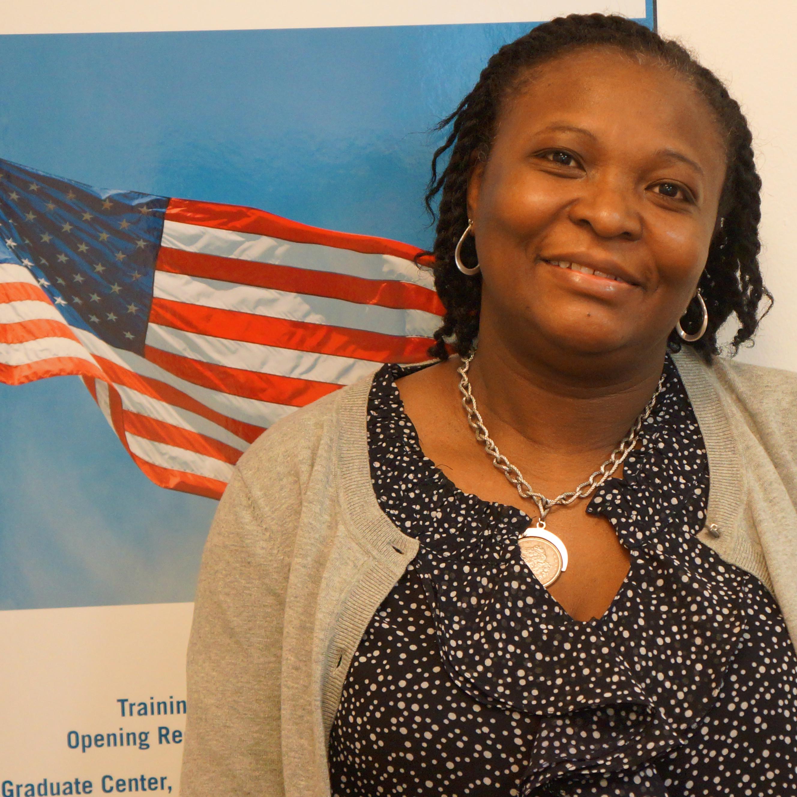 Carolina Solano at Citizenship Now!'s office