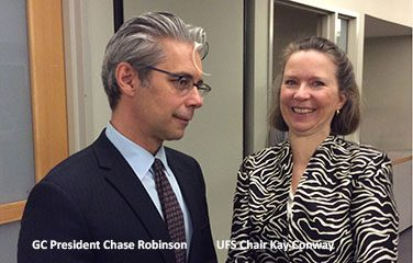GC President Chase Robison and UFS Chair Kay Conway