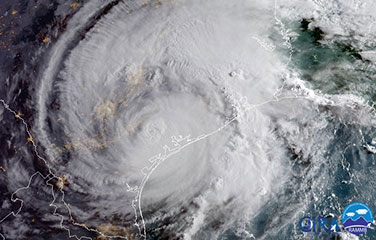 eye of the hurricane ariel view