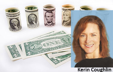 Kerin Coughlin with US currency in background