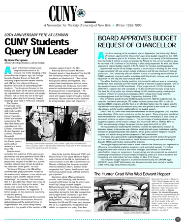 CUNY Matters cover for Winter 1995