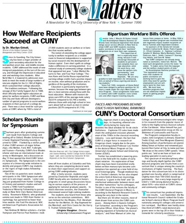 CUNY Matters cover for Summer 1996