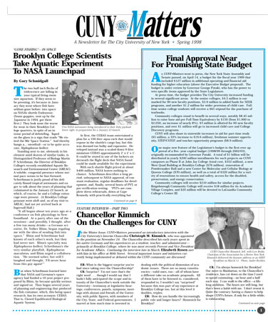 CUNY Matters cover for Spring 1998