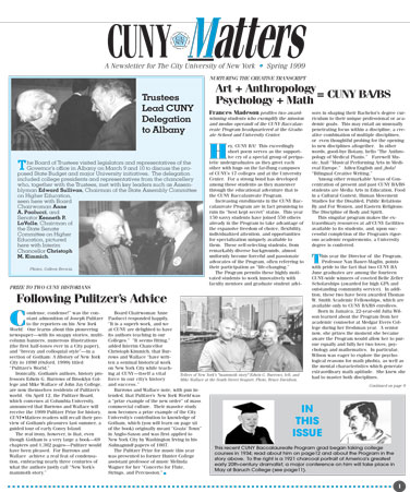 CUNY Matters cover for Spring 1999
