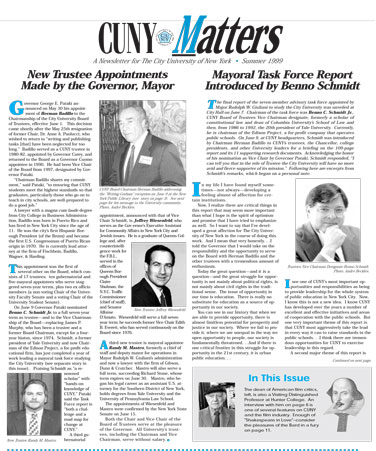 CUNY Matters cover for Summer 1999