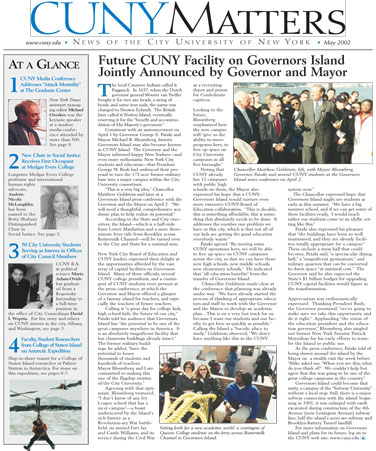 CUNY Matters cover for May 2002