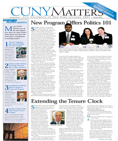 CUNY Matters cover for Spring 2004