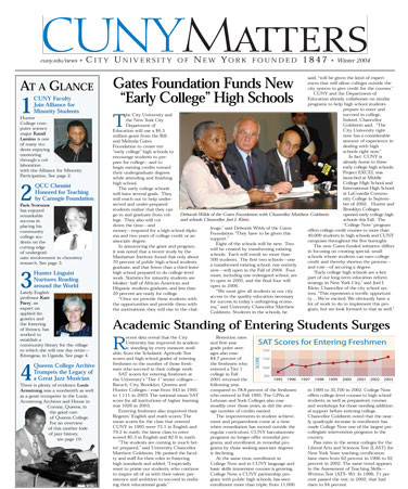 CUNY Matters cover for Winter 2004